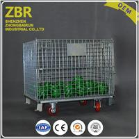 Steel galvaniezed folding warehouse industrial portable storage cages