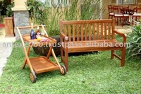 Teak bench for patio set