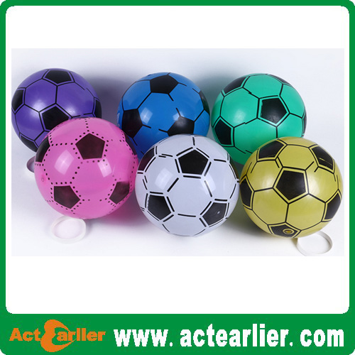 eco-friendly plastic toy football with custom design