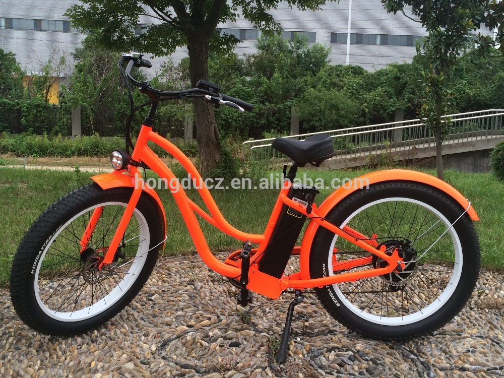 2016 New colorful step through fat tires electric bikes for women