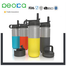 Water Bottle Extra Lid Vacuum Insulated Stainless Steel Wide Mouth Hydro Travel Mug Powder Coated Double Walled Flask