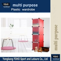 AL0017-4 4 doors plastic cheap laminate desighs wardrobe