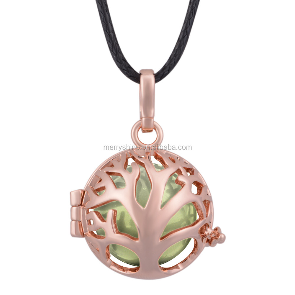 Fashion perfume jewelry solid rose gold plated aromatherapy locket diffusers lockets for men and women K46R18-34