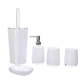 High End Bathroom Toilet Accessories Acrylic Tumbler Liquid Soap Dispenser Toothbrush Holder