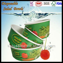 2014Custom Logo Disposable Paper Container for Salad with Lids
