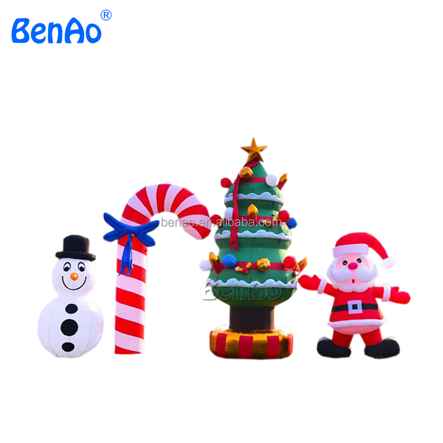 X146 Christmas inflatable santa claus, christmas decoration led inflatable snowman ,Christmas tree yard outdoor decoration