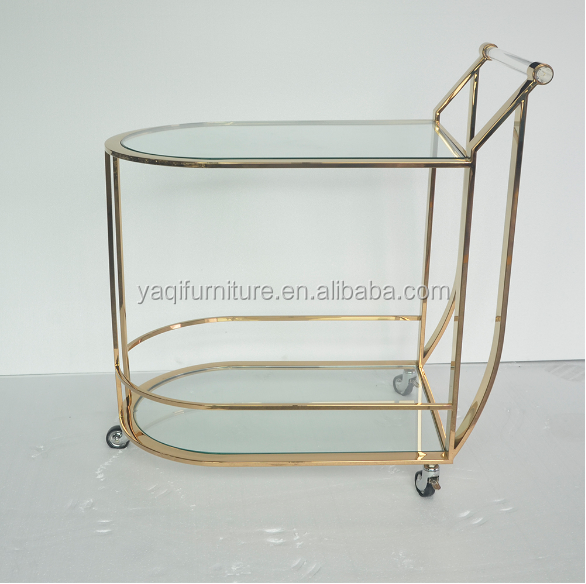 Amazing Design Stylish Gold Bar Cart