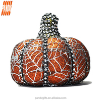 Fashion all saints orange mini small pumpkin with a diamond The surface of silver printing design