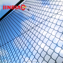 Black vinyl chain link playground cage mesh wire fence