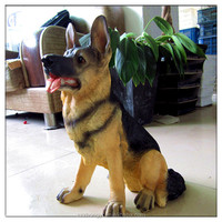 2014 China Supplier hot new products lifelike resin german shepherd ,wholesale german shepherd