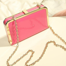 Wholesale fashion ladies clutch bag hard case metal frame