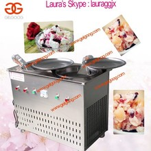 Large Capacity Ice Cream Fryer Machine|Fried Ice Machine With Double Pans