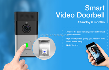 WiFi Doorbell,Wireless IP intercom camera,Mobile phone Doorbell Camera Wireless Smart Video Intercom System andorid IOS doorbell