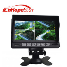 Remote control SD card vga input widescreen 16:9 7inch dvr lcd car monitor