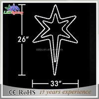 Popular professional outdoor christmas star motif light