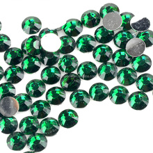 Wholesale Emerald Flat Back Epoxy Rhinestone, Flat Back Resin Rhinestone, Flat Back Non Hotfix Resin for Mobile Phone
