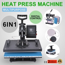 Desktop Baseball Hat Press 6 in 1 Multifunctional Sublimation Heat Press Machine