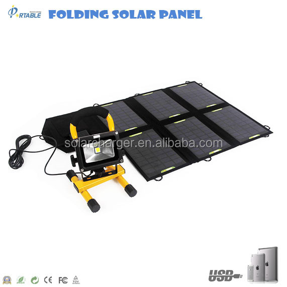 high quality factory portable & foldable 21W home solar panel kit for phones,Ipad,satalite phones