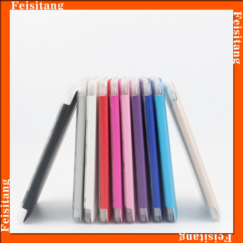 Flip leather with Transparent tablet cover Tablet cover cases for apple ipad case