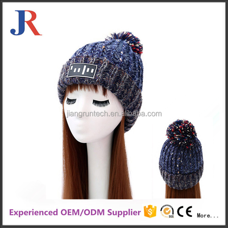 Economic high quality promotional custom knitted beanie cap
