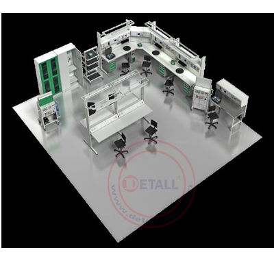 lab equipments assembly line esd lab workben with holistic antistatic function