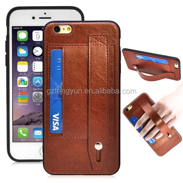 2017 fashion leather mobile phone accessories cell phone case bag for iphone 7 7 plus