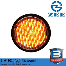EN12368 CE Approved 100mm Amber LED Yellow Traffic Light Module, Waterproof 4 Inches LED Yellow Traffic Signal Lights Module