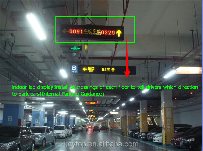 KEYTOP ultrasonic forward mounted sensor based parking guidance system for indoor car parking projects