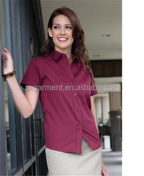 MINI STRIPE LADIES' WOVEN SHIRT ladies ruffled high collar shirt