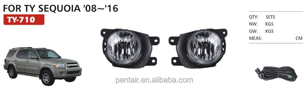 FOR TY SEQUOIA 08-16 SUV OE STYLE FOG LIGHT LAMP,PENTAIR WATERPROOF FOG LIGHT