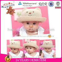 2014 new arrival fashion wholesale high quality baby straw hats