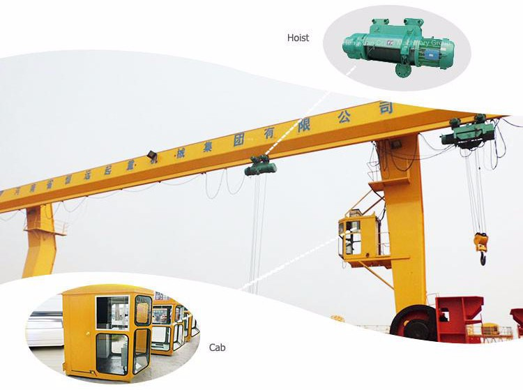 electric travelling gantry crane 25t