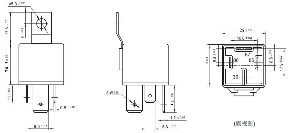 12v 24v 4pin 5pin 80a 100a toyota iron auto relay 90987