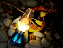 Z2 USB Retro oil lamp blow LED table lamp