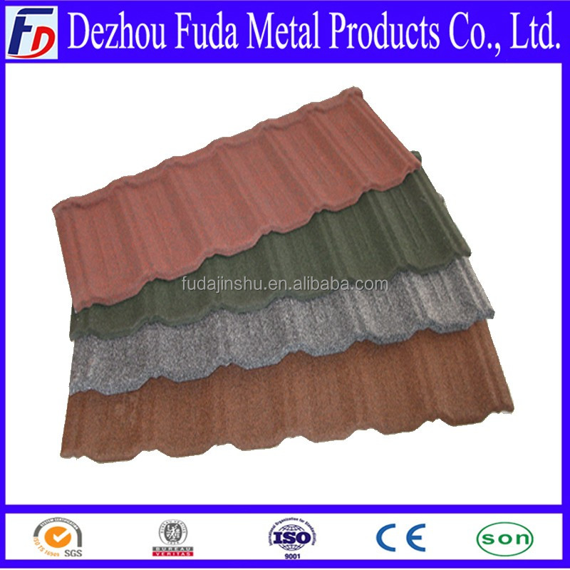 2016 hot products Modern Lightweight Colorful Stone Coated Metal Roofing Tiles