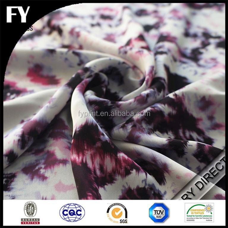 Colourful pattern silk chiffon fabric of digital printing