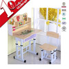 2016 customized hot sale adjustable single student desk and chair for primary school