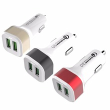 guangzhou mobile accessories market Dual QC3.0 fastcar charger,fastcar charger 2 Ports QC3.0