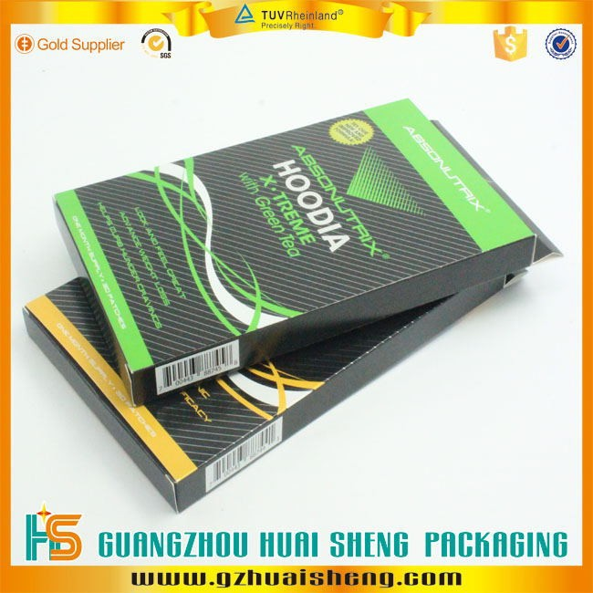 Customized Cardboard folding paper gift box with hanger