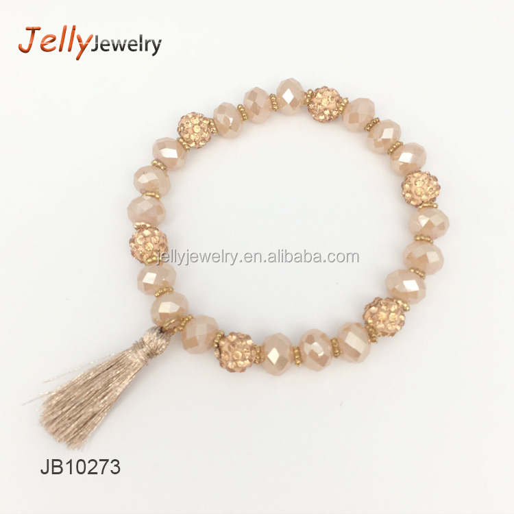 Shamballa spacer beads mini rhinestone crystal faceted rondelle beads necklace tassel bracelet