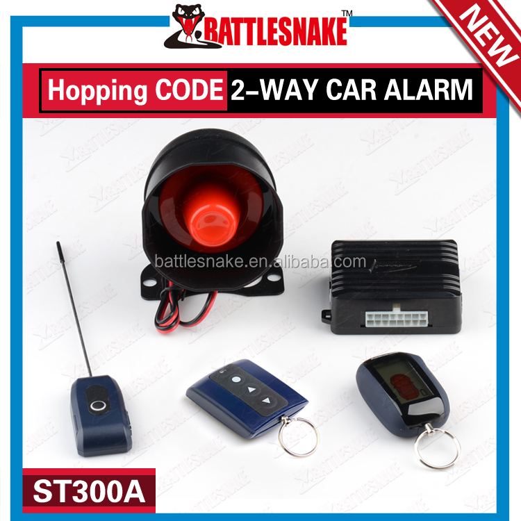 Car Security Lock Car Alarm System 2 LCD Remote gsm Two Way Car Alarm