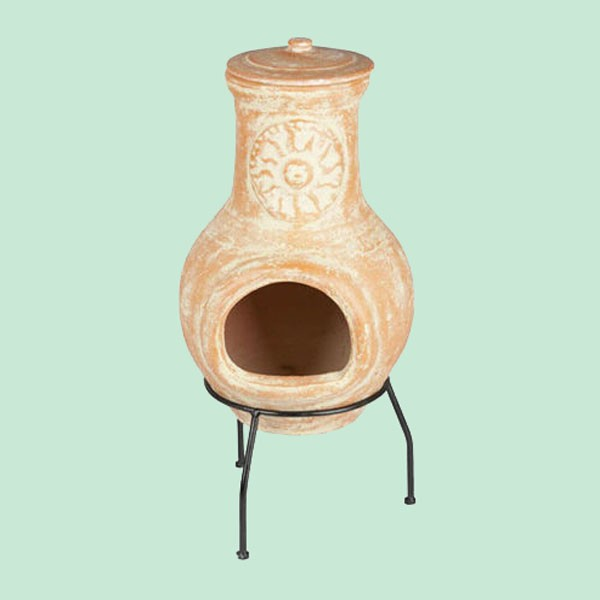 Traditional Terracotta Garden Chiminea Outdoor Fireplace Patio Heater