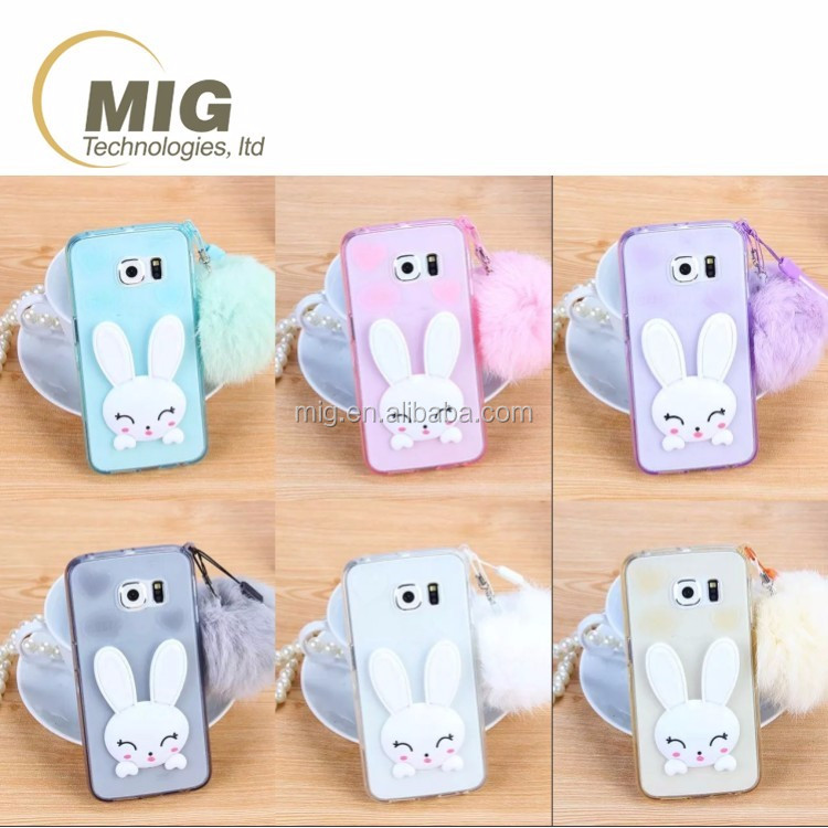new cute rabbit ear kickstand TPU phone case for iphone 4 4s mobile phone back cover