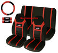 Super Speed Red 7-piece rainbow car Seat Cover Set