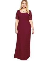 Elegant Design Adult Lady Girl Women Long Big Girls Lace Evening Party Dress for Fat Women