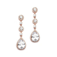 High quality AAA bling zircon 18k gold rose gold earrings 2017 personalized gifts imported silver jewelry