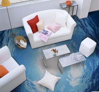 Popular 3D effect stickers wallpaper wall murals for floor and decor