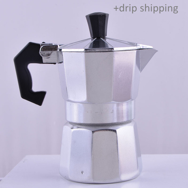 Coffee Maker 1pc 1 cup(50ml) Stovetop Espresso drop shipping---skype colsales37
