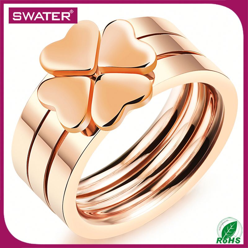 Wholesale Indian Jewelry Rose Gold Clover Beautiful Pictures Of Rings