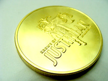 1 ounce novelty true gold coin